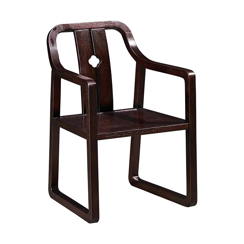 苏园-黑檀木新中式书椅8113