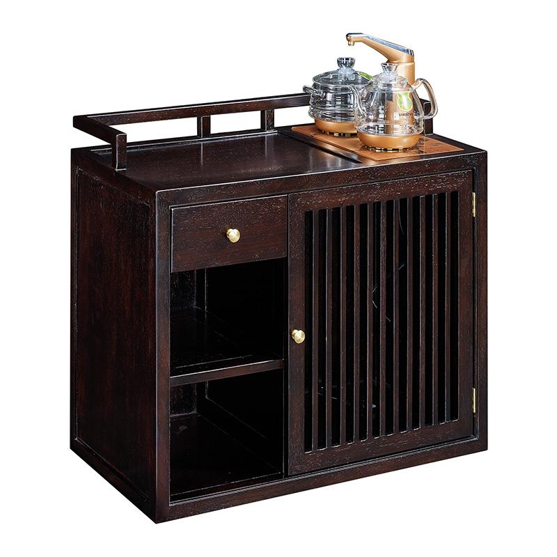 苏园-黑檀木新中式茶水柜8517