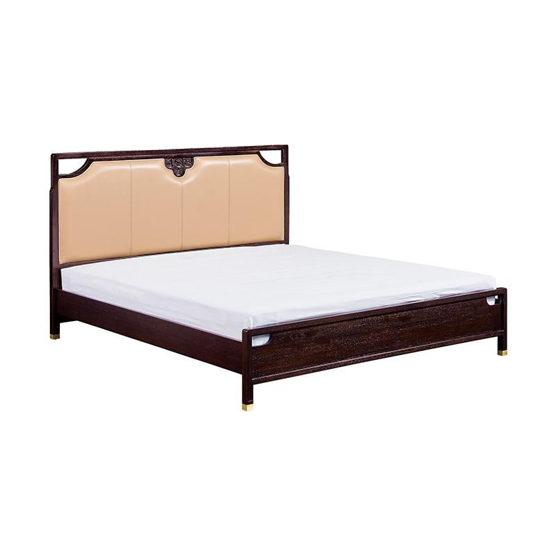 苏园-红翅木新中式床8501