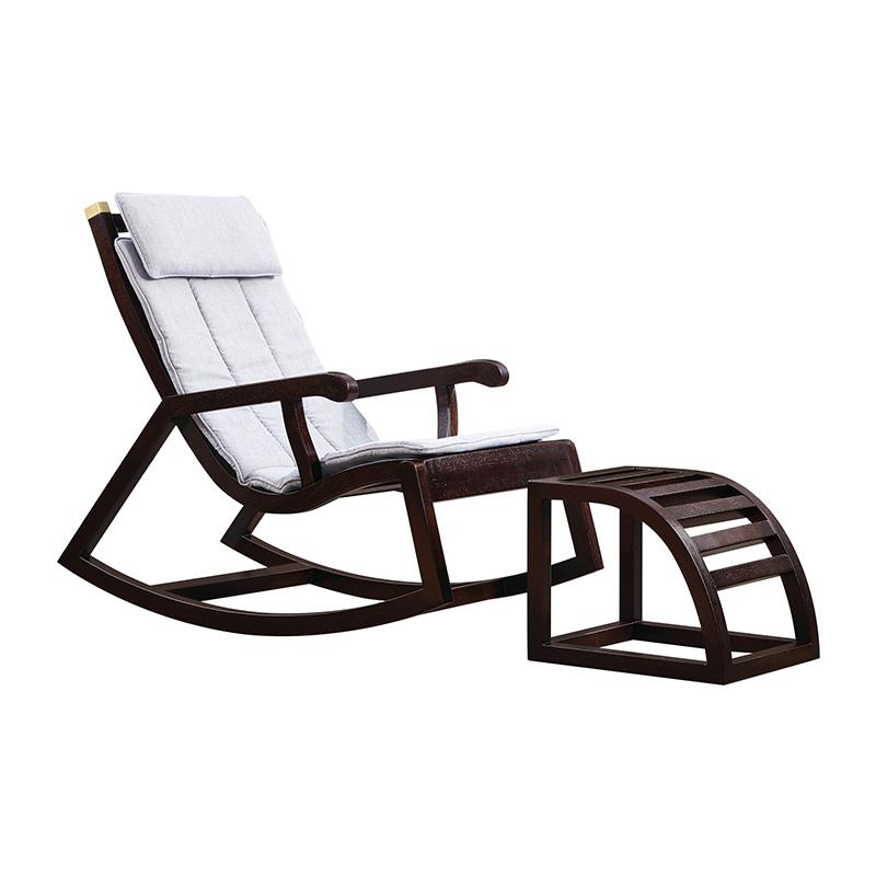 苏园-黑檀木新中式躺椅8213