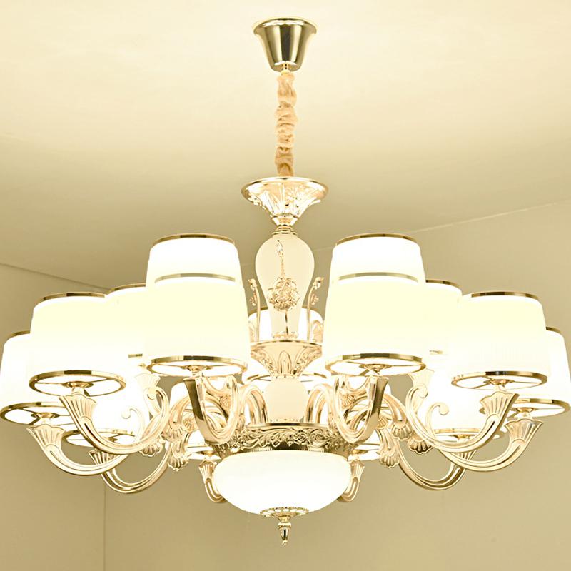 生活本欧式风7132锌合金灯 3头吊灯 底部带6w LED暖光