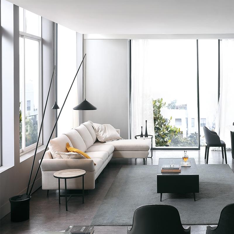 古诺现代B8025-1#单位,三位,贵妃沙发组合 单人位