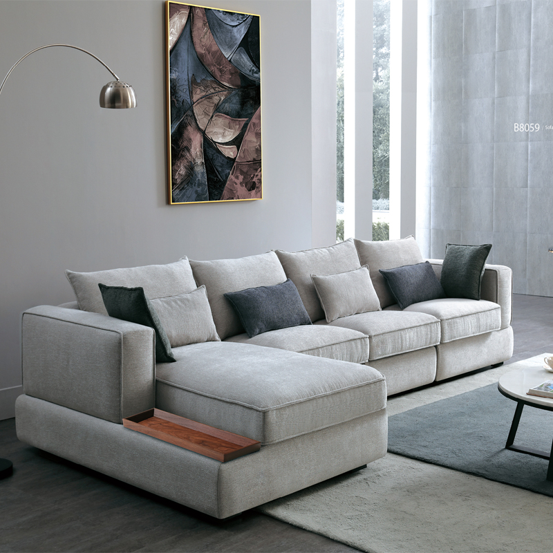 古诺现代B8059#单位,三位,贵妃沙发组合 1+3+贵