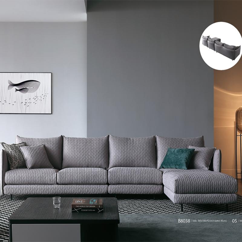 古诺现代B8038#贵妃,单位,三位沙发