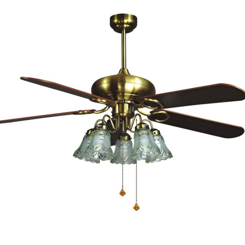 生活本欧式风6636风扇灯 52寸5灯头线控(1320mm)青古铜