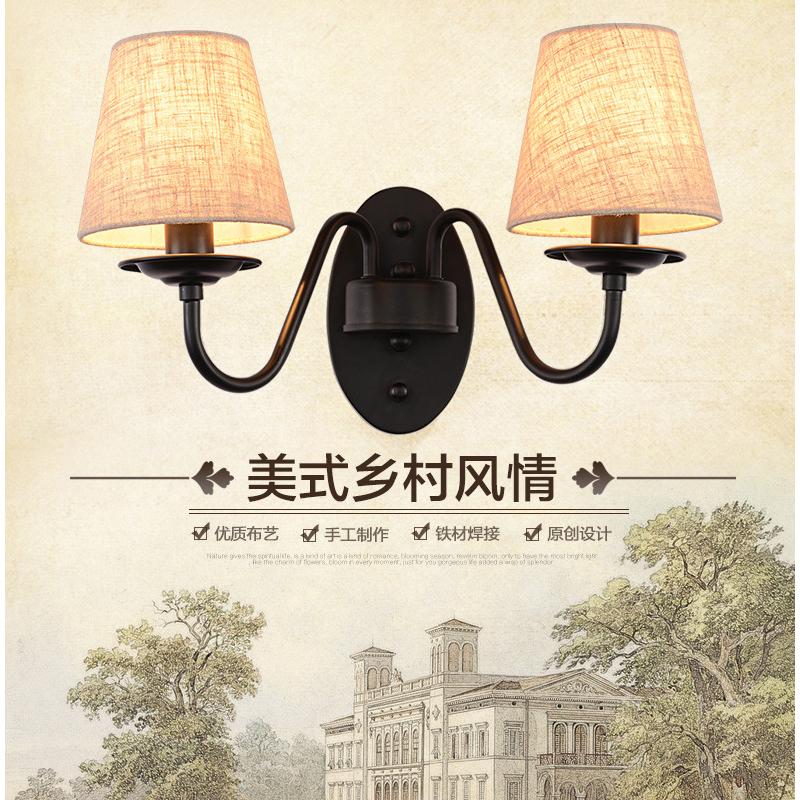 生活本美式风优2238-2 2238-1 仿铜双头壁灯