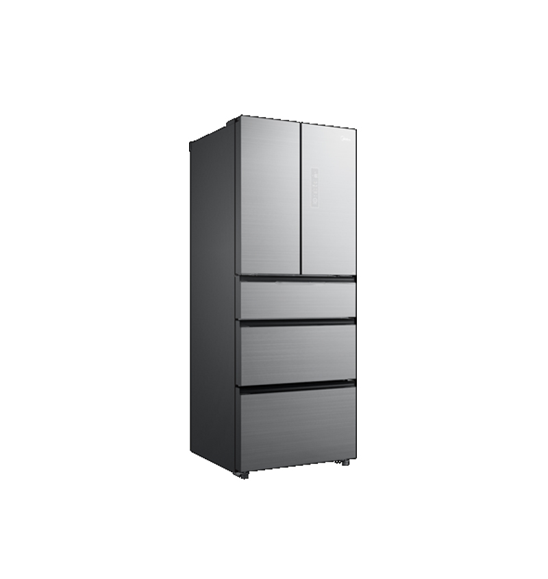 美的BCD-406WGPZM冰川银五门冰箱