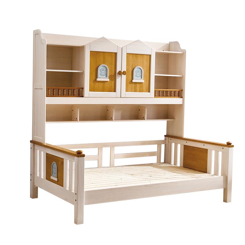 侨利北欧风DL005衣柜床 1.2米衣柜床