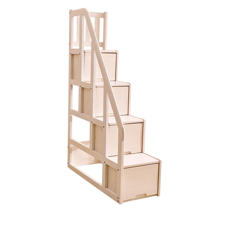 侨利北欧风梯柜 双层床通用DL-63梯柜 (水洗白)