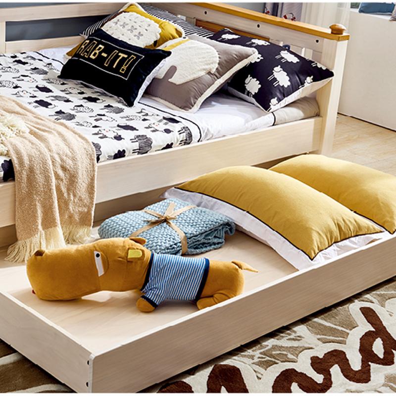 侨利北欧风长拖箱 双层床/衣柜床通用DL-062 长拖箱 (水洗白)