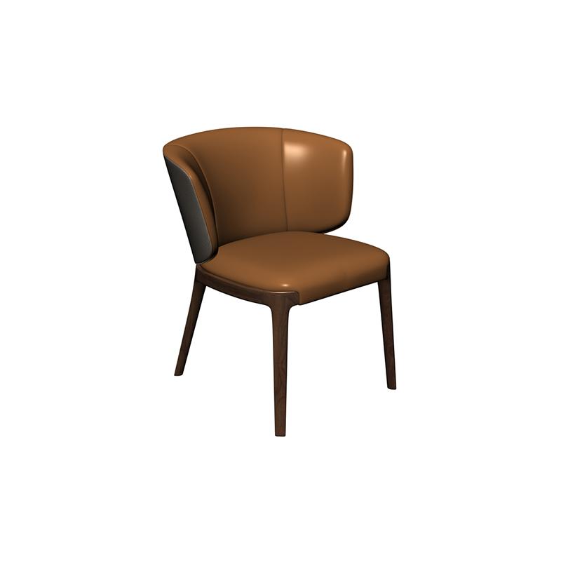 美持 餐椅6R005 烟熏 半皮