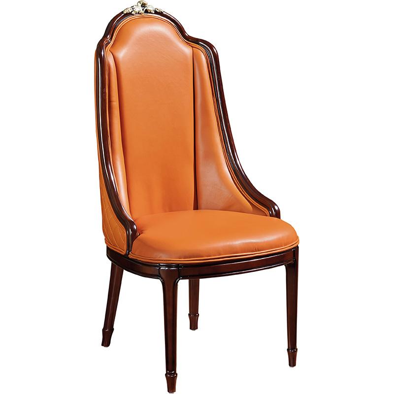 蓝晨美式轻奢餐椅905 真皮