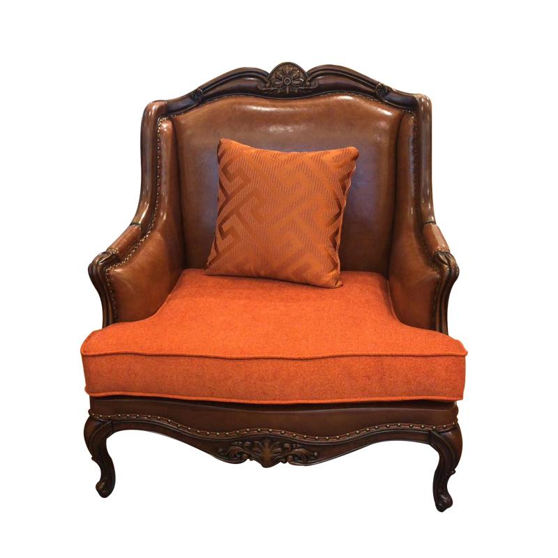 蓝晨奥美卡美式单位沙发8809(布坐垫) 仿皮