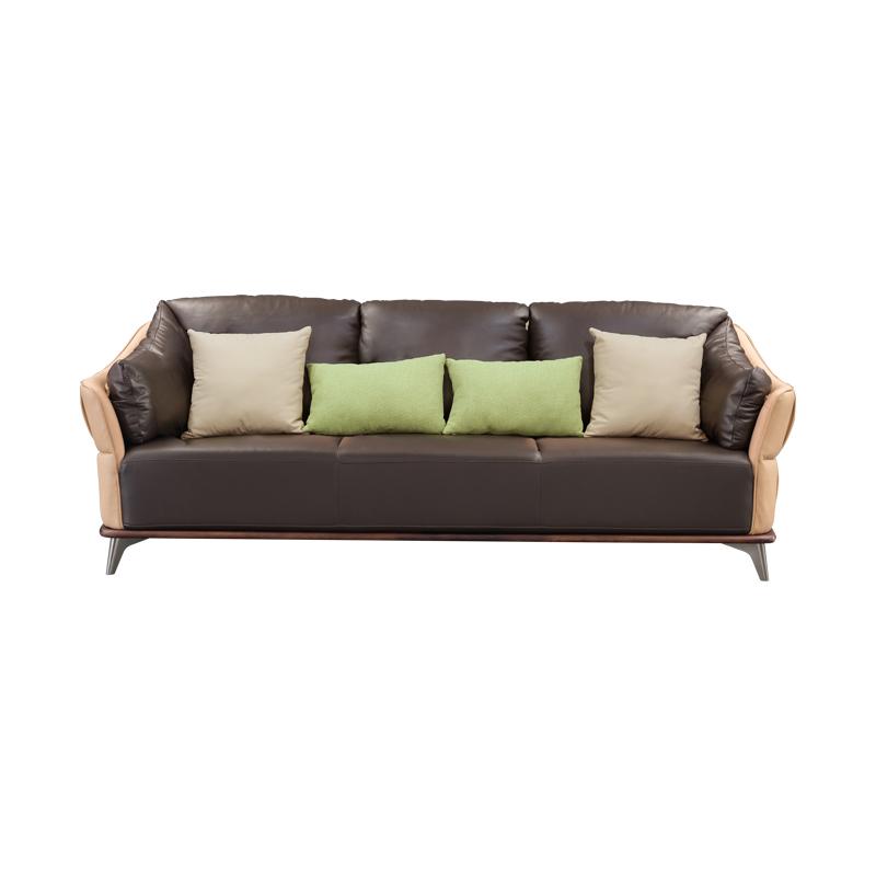 宝居乐意式实木轻奢三位沙发SP306