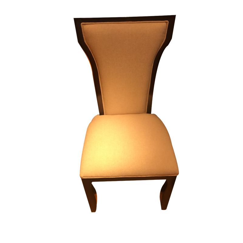 蓝晨月岛中式餐椅YD08 真皮