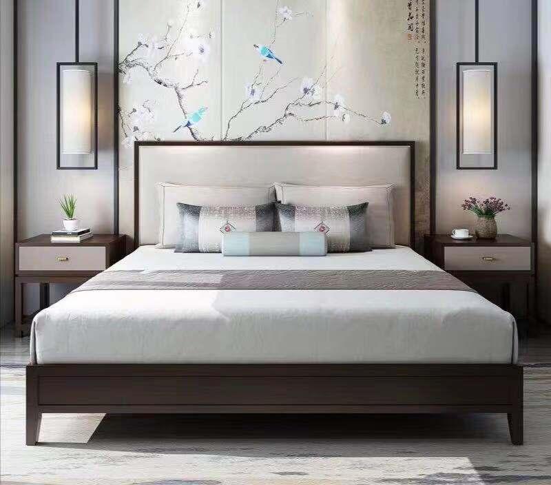 曼格新中式床R-C15 内径1800*2000