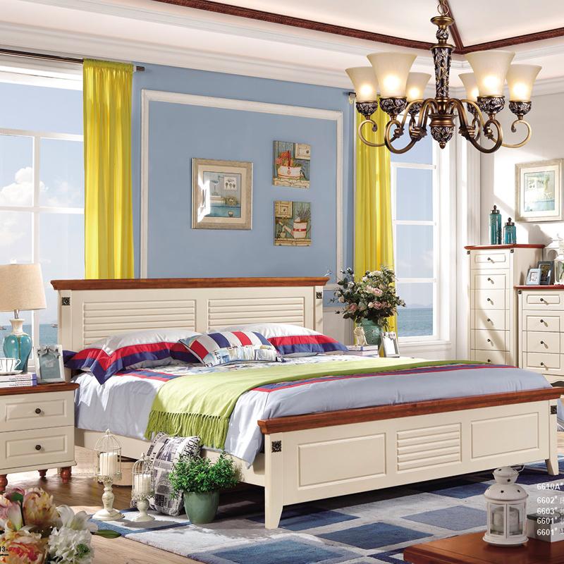 蓝晨圣卡琳地中海双人床6610 1.5米床