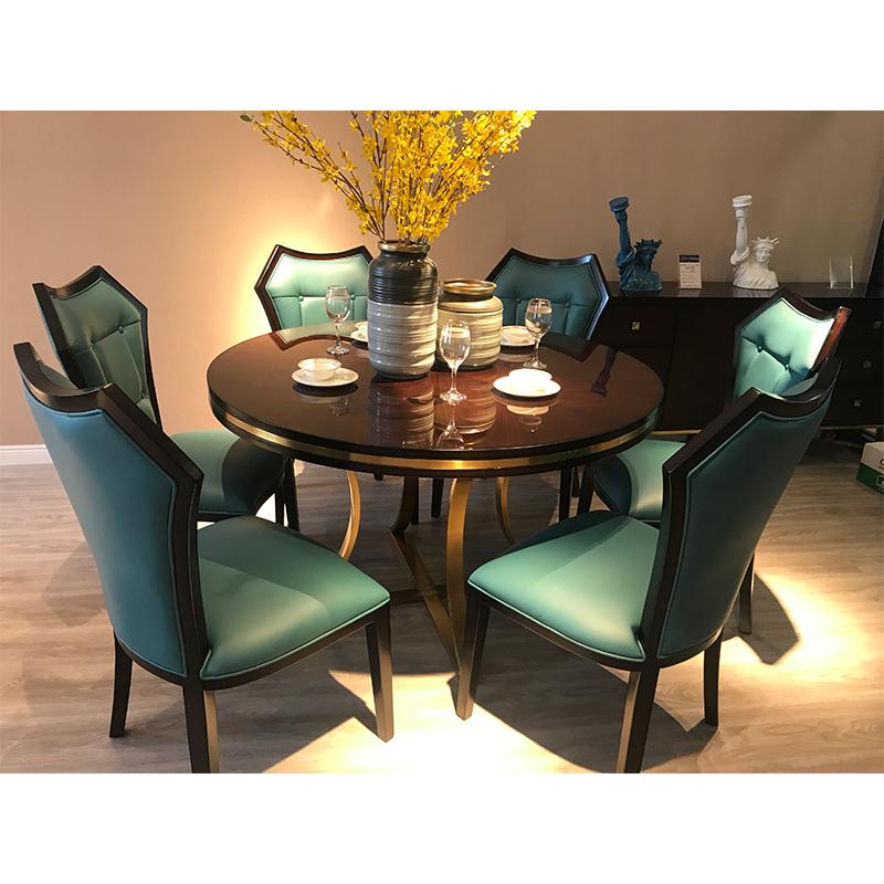 蓝晨月岛中式圆餐桌YD01