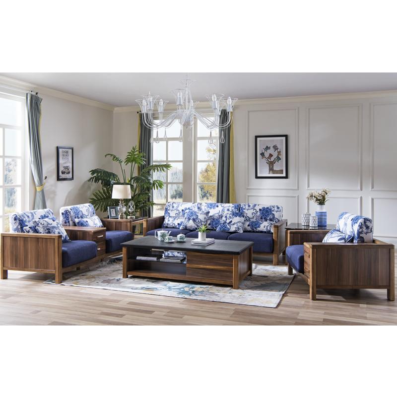 森盛美胡现代三人沙发SFG5009C