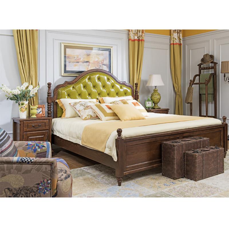 森盛舒美美式双人床1.5米A6008B