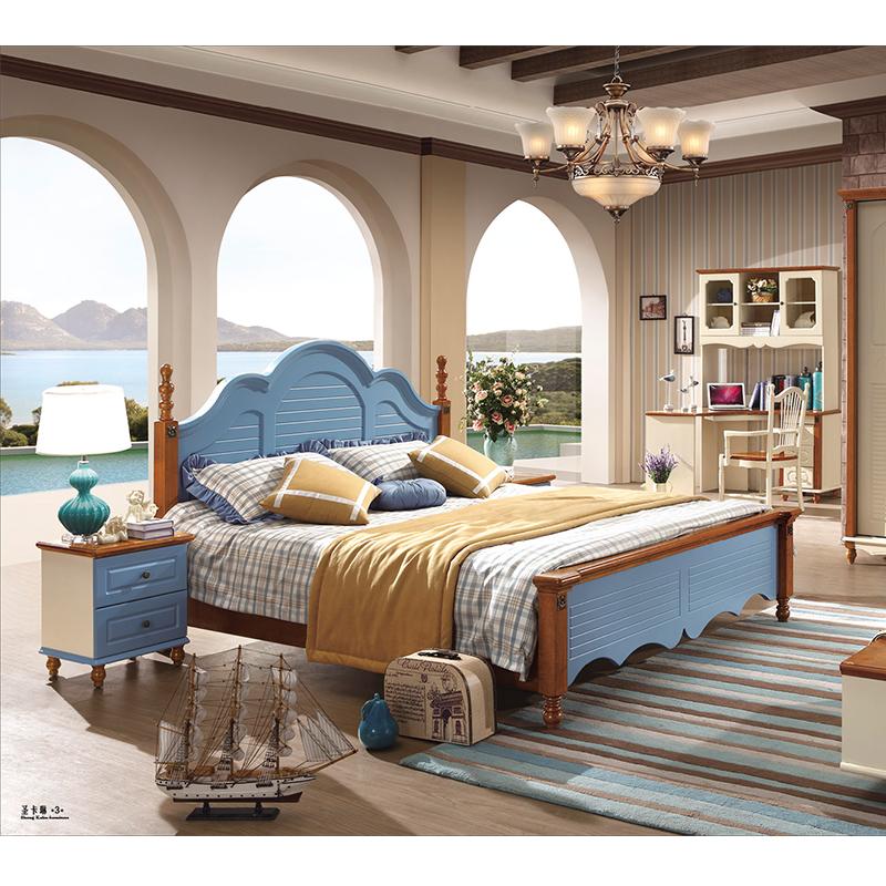 蓝晨圣卡琳地中海双人床6613