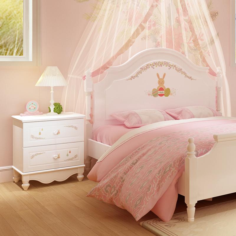 酷漫居韩式套房微笑兔子系列床头柜KMD-B002