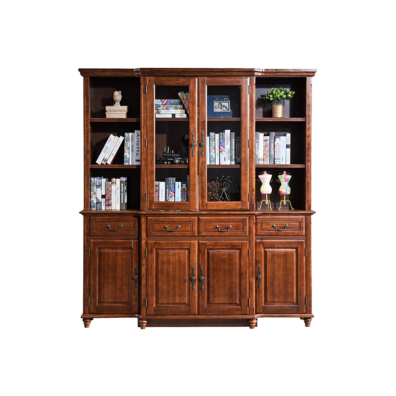 森盛舒美美式书柜P6002