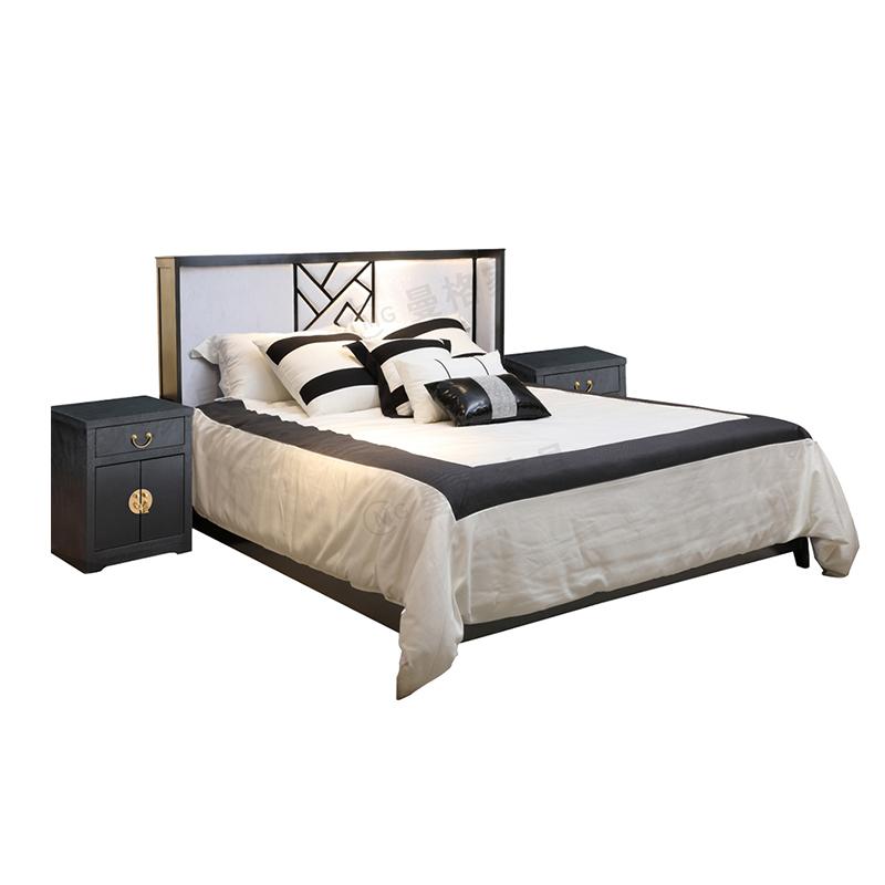 曼格新中式双人床R-C05
