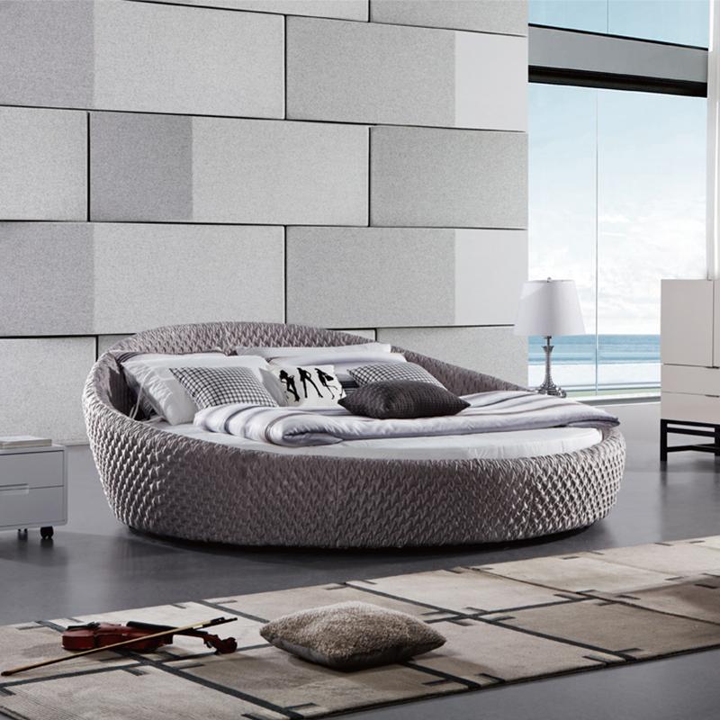 尚驰米兰现代布艺床2#圆床