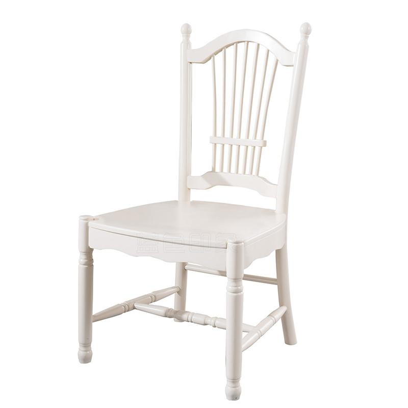 蓝晨蓝色印象简欧餐椅C3301