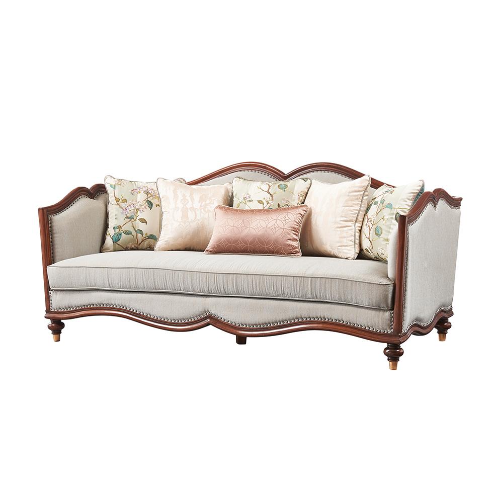库普思美式轻奢三人沙发K-68