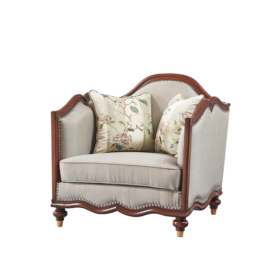库普思美式轻奢单人沙发K-68