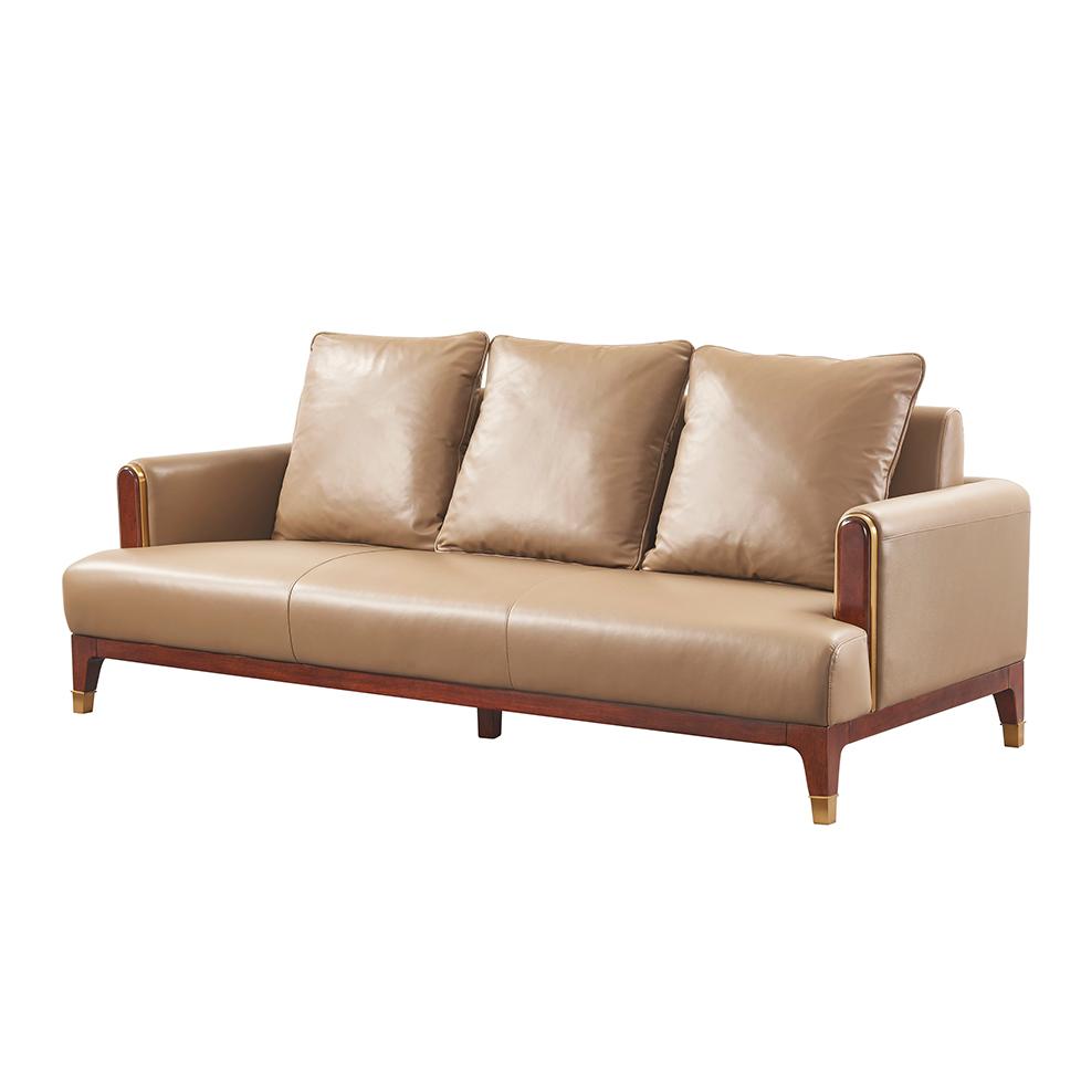 库普思美式轻奢三人沙发K118