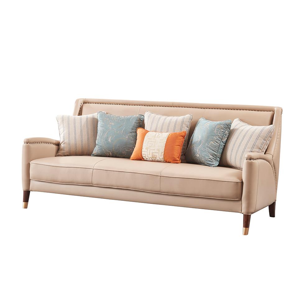 库普思美式轻奢三人沙发K119