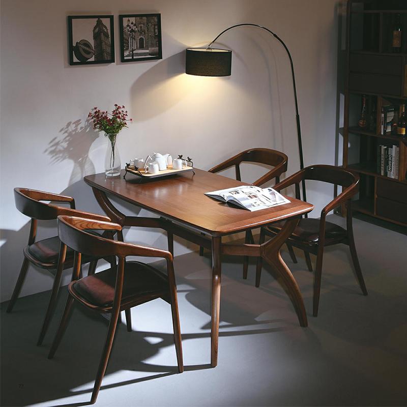 名艺轩北欧方型实木餐台A01