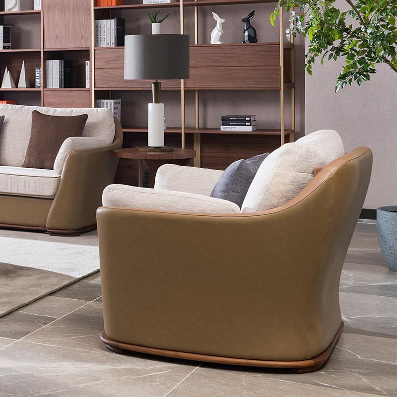 宝居乐意式实木轻奢单位沙发SP302