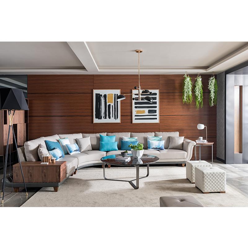 宝居乐意式实木轻奢转角沙发SP303