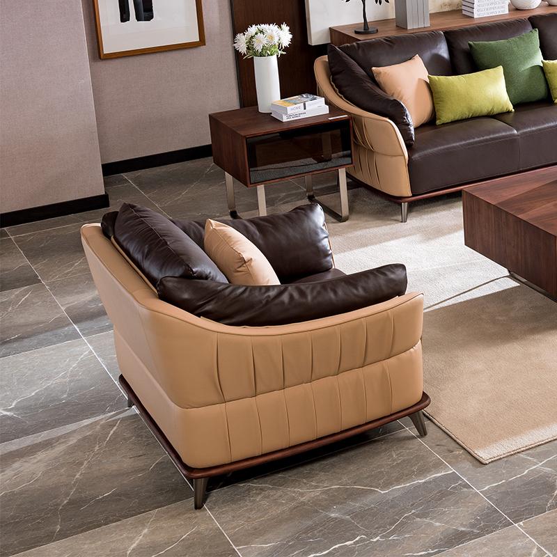 宝居乐意式实木轻奢单位沙发P306