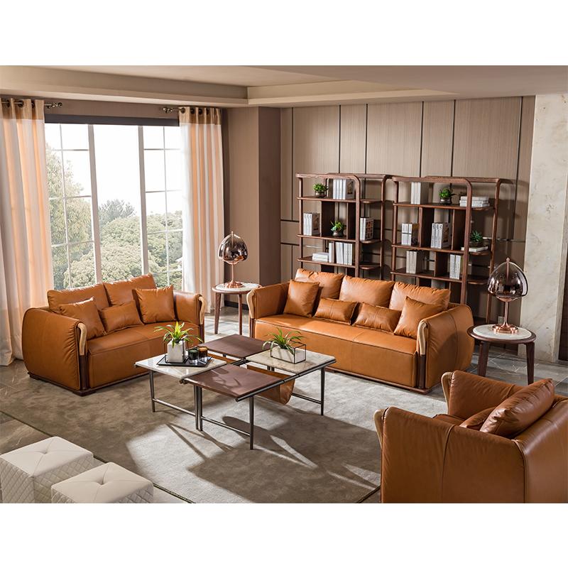 宝居乐意式实木轻奢单位沙发SP307