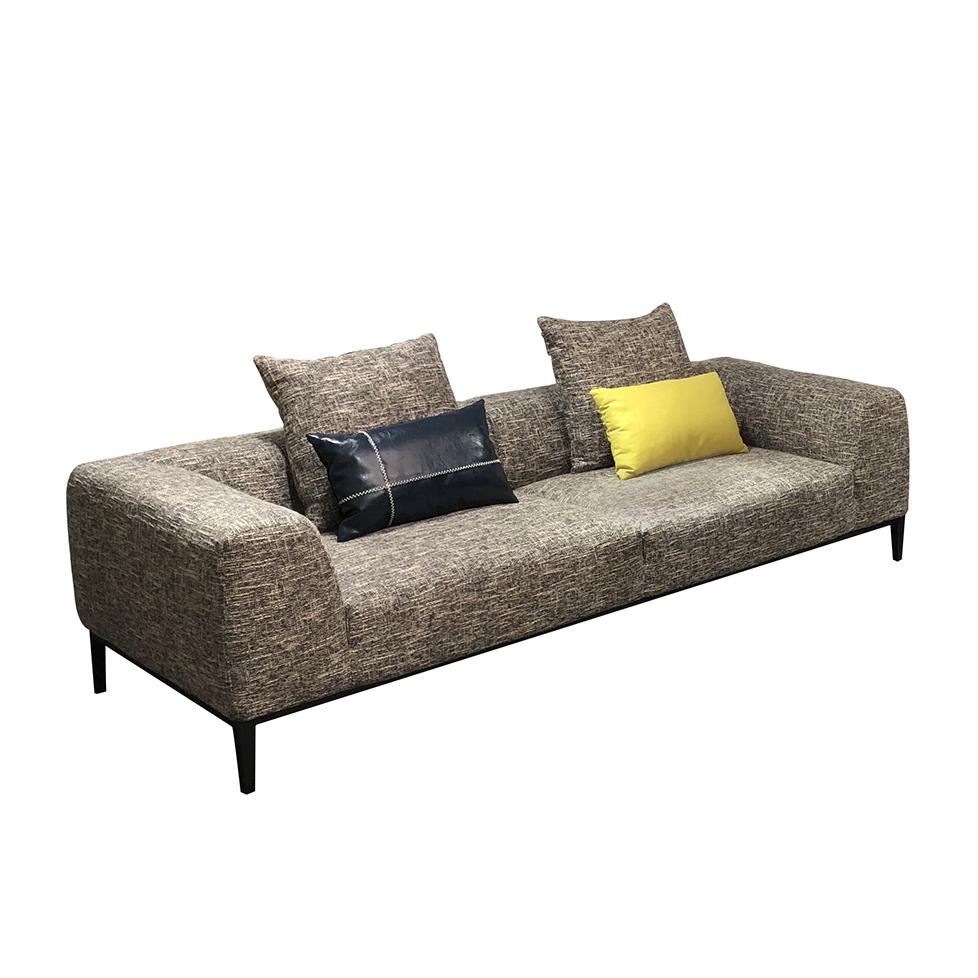 美持现代展布艺沙发三人位RM070#C