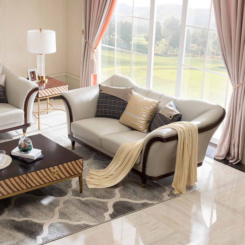 宝居乐美式轻奢双人沙发TP221