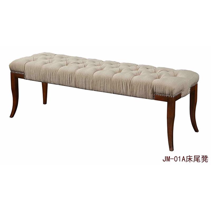 曼格美式轻奢床尾凳01A