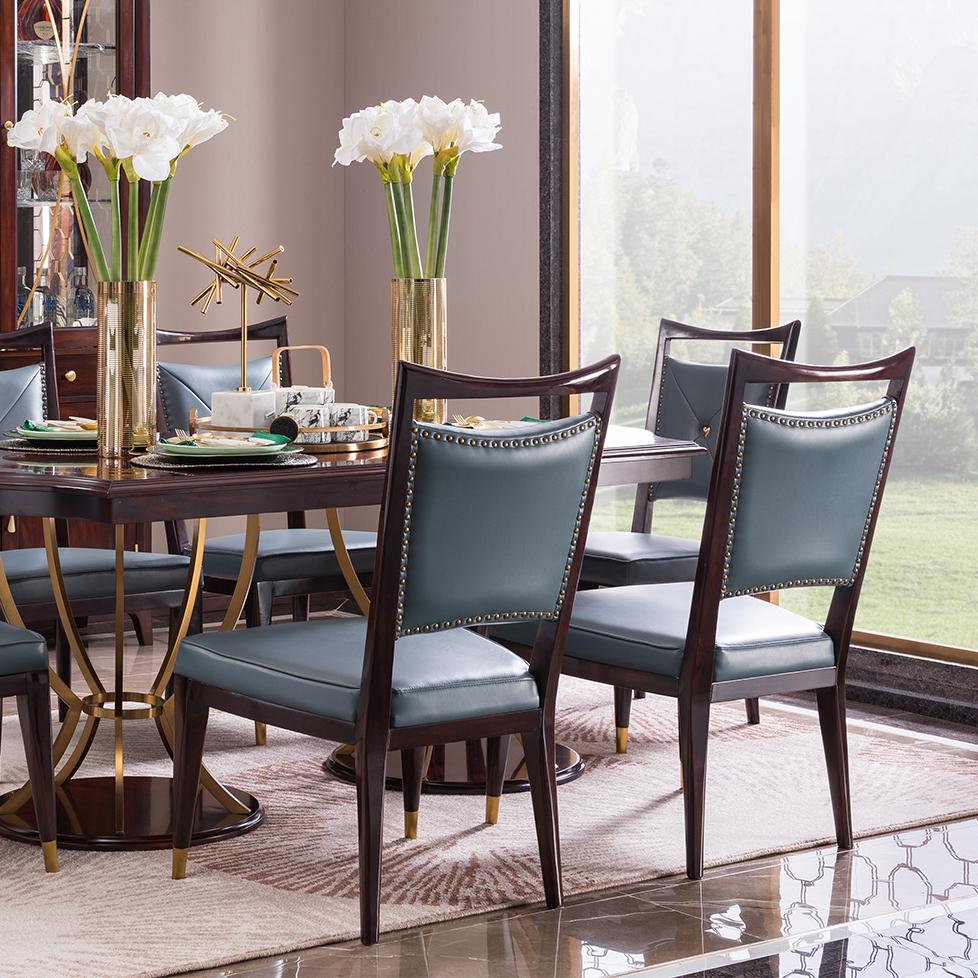 宝居乐美式轻奢二代餐椅TP223