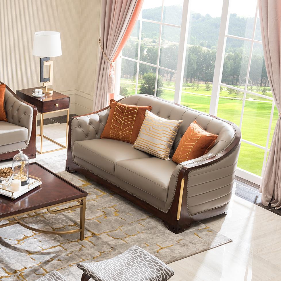 宝居乐美式轻奢沙发二位TP222