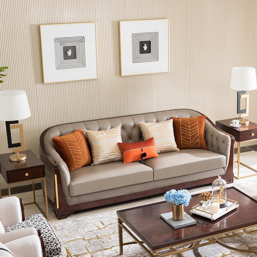 宝居乐美式轻奢沙发三位TP222