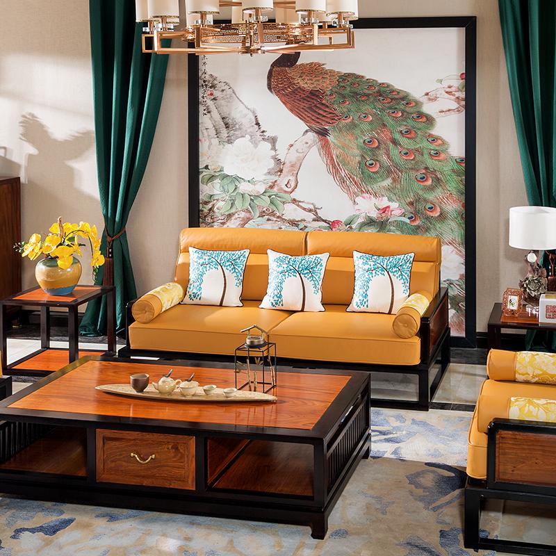 宝居乐新中式沙发三位TL820