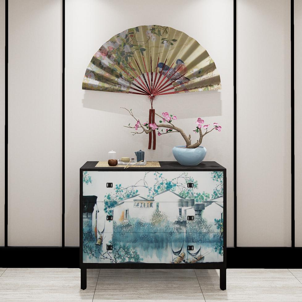 曼格新中式装饰柜/餐边柜R-G099