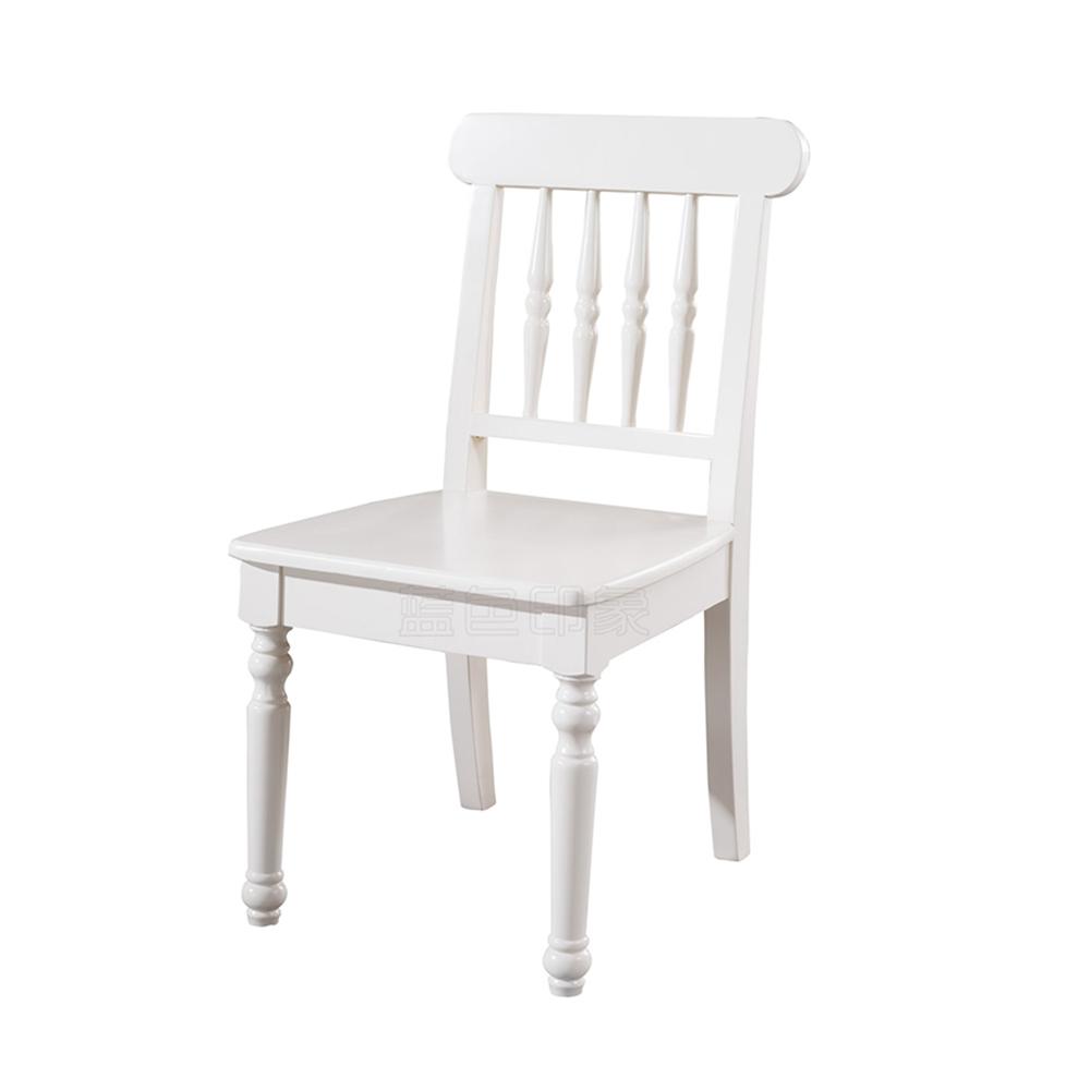 蓝晨蓝色印象简欧餐椅C3306