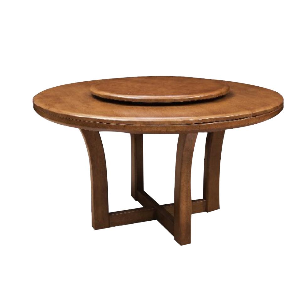 森盛锐璞北欧圆餐桌/圆餐台(含转盘)Q8008B