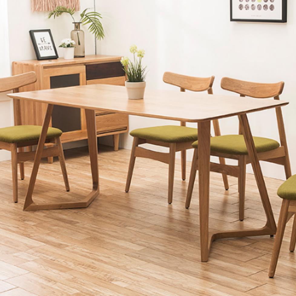 生活本白橡木餐桌1.2米T011